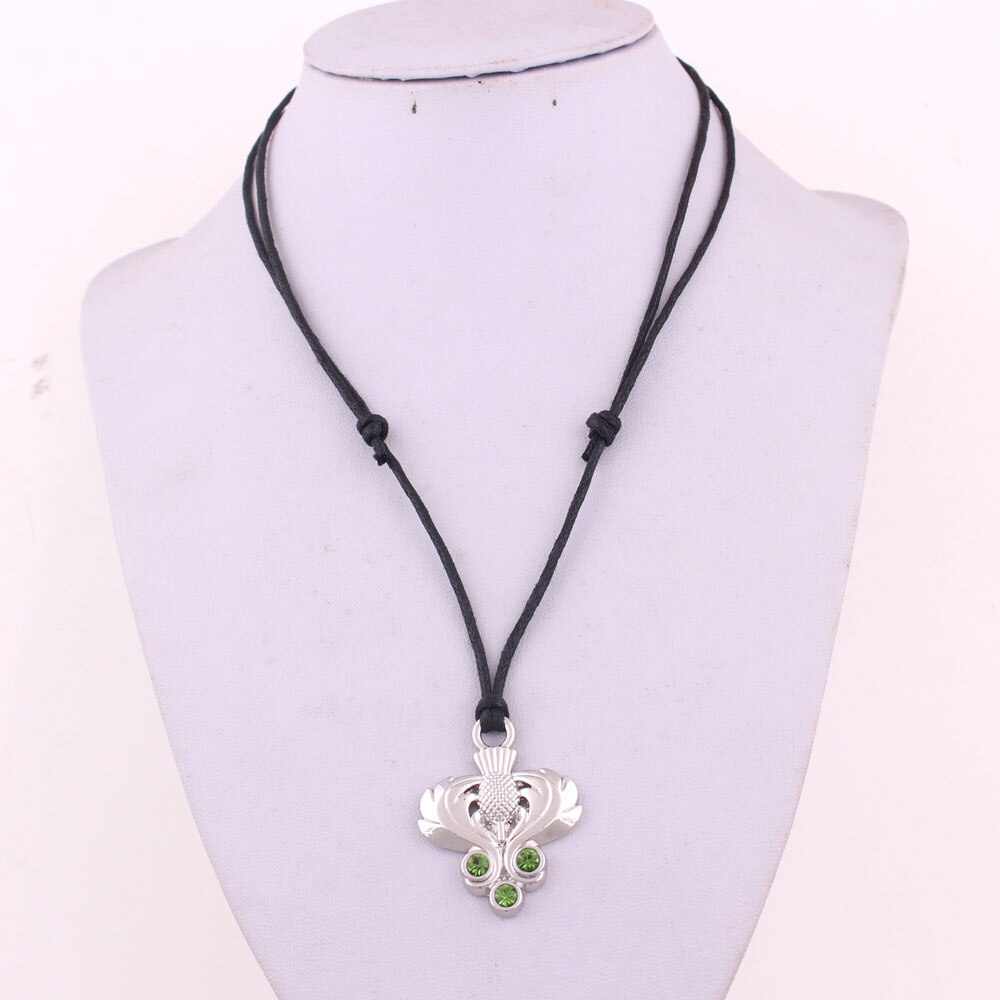 Us $4.08 32% Off|Thistle Pendant With Green Crystal Scottish Guardian  Thistle Rope Necklace Wheat Link Bracelet Snake Necklaces In Pendant  Necklaces For Newest Wheat Pendant Necklaces (Gallery 23 of 25)