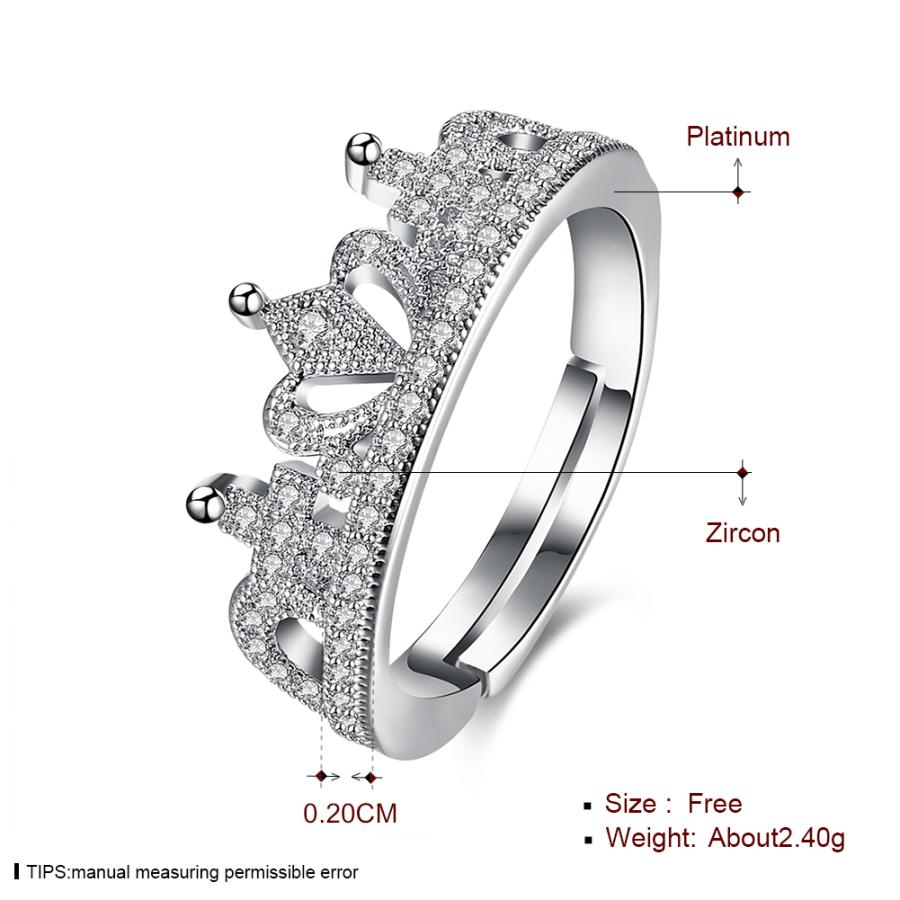 Us $4.09 |New Design Noble Fairy Crown White Gold Color Ring Clear  Sparkling Crystal Zircon Ring High Quality Jewelry For Women In Wedding  Bands From Intended For Latest Clear Sparkling Crown Rings (Gallery 18 of 25)