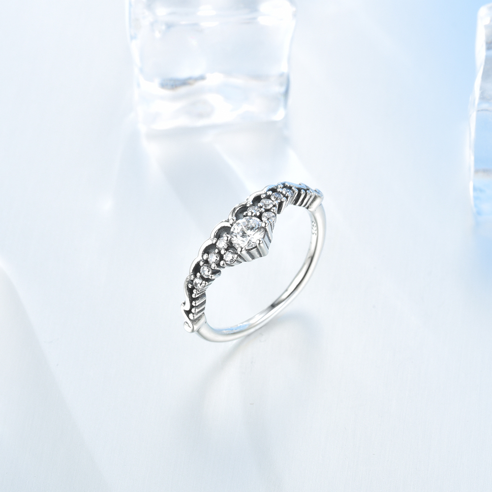 Us $4.79 51% Off|Lzeshine Authentic 925 Sterling Silver Fairytale Tiara  Finger Ring For Women Engagement Rings Fashion Jewelry In Engagement Rings Inside 2017 Fairytale Tiara Rings (Gallery 15 of 25)