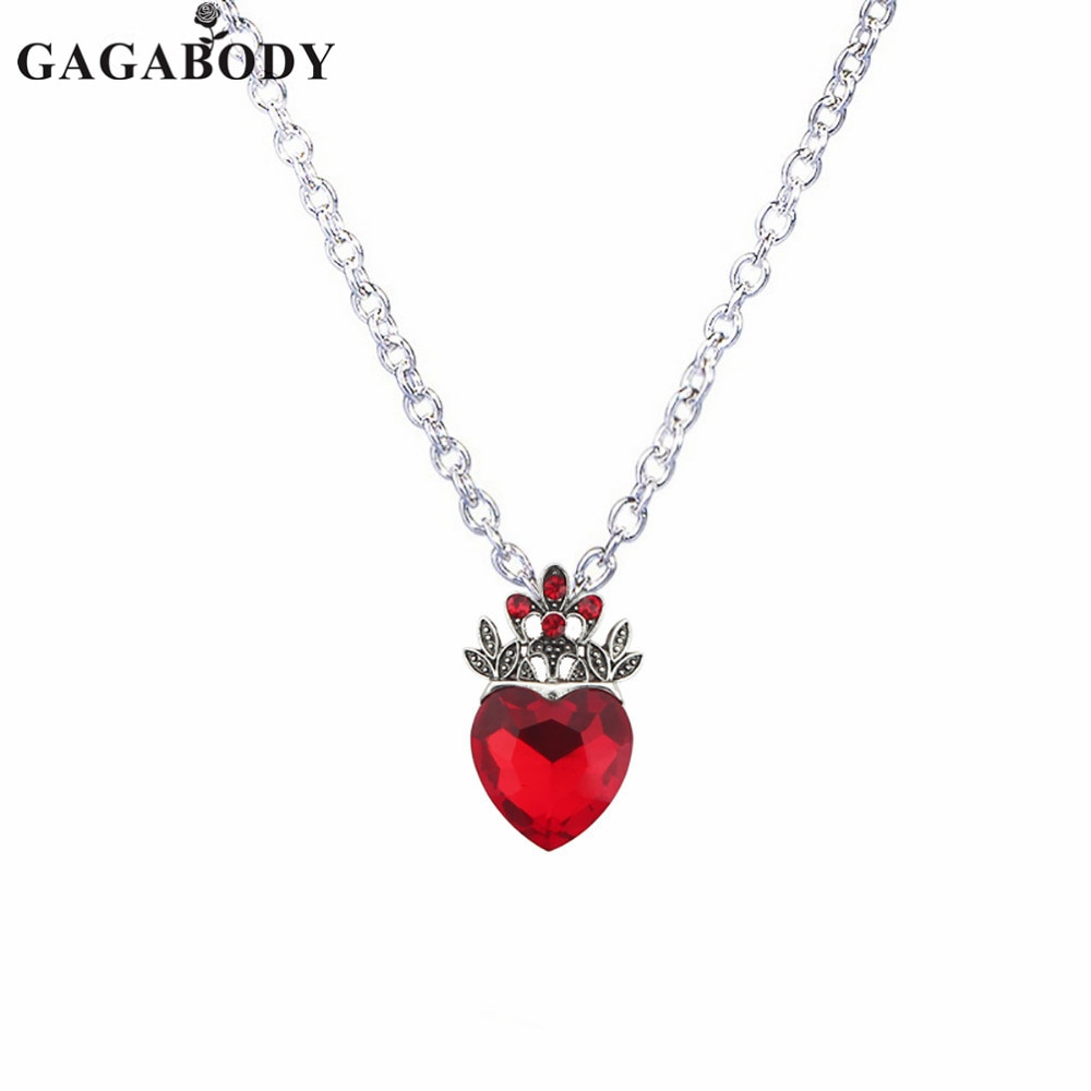 Us $4.99 |Valentine's Day Evie Necklace Descendants Red Heart Crown  Necklace Queen Of Hearts Costume Fan Jewelry Pre Teen Gift For Her In  Pendant Throughout Most Recently Released Heart Fan Pendant Necklaces (Gallery 3 of 25)
