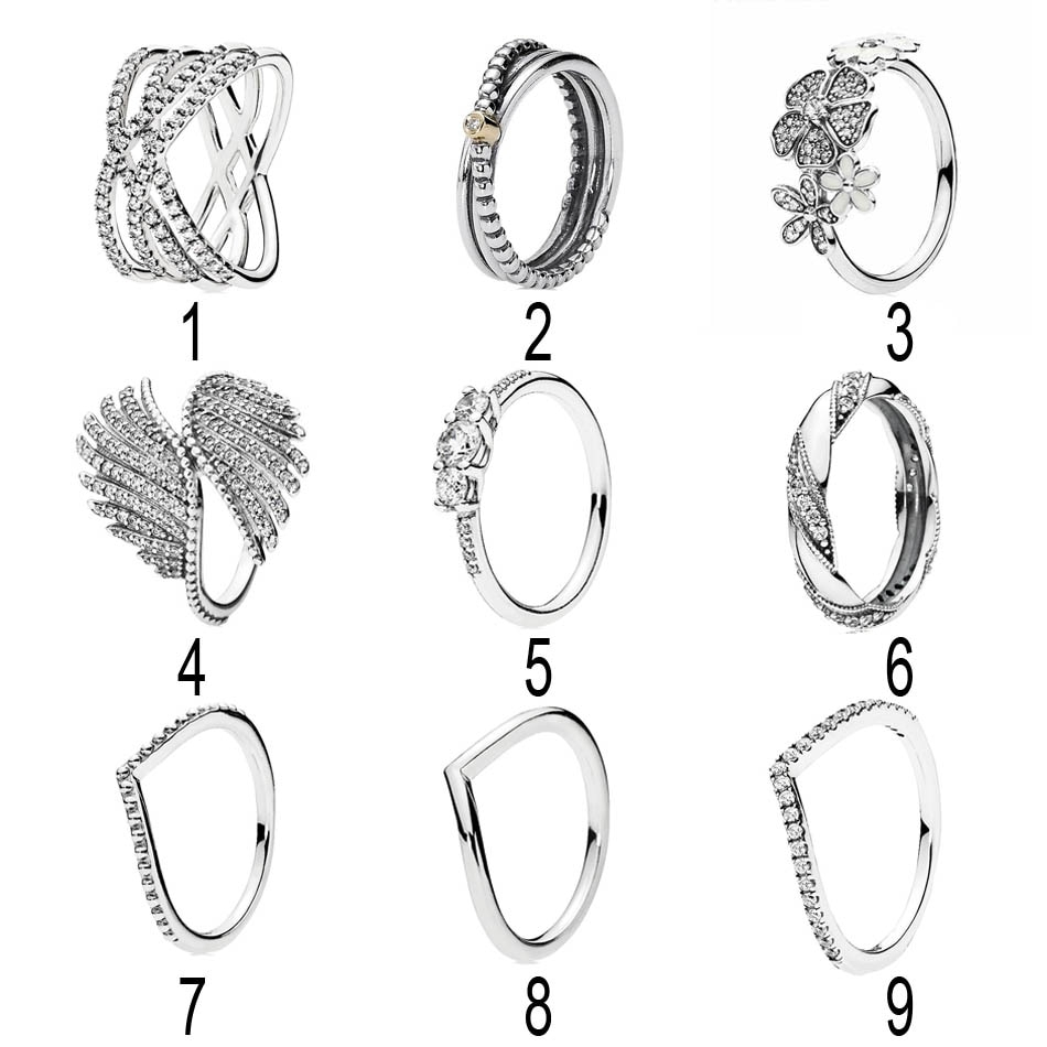 Us $6.11 40% Off|925 Silver Majestic Feathers Ring For Women Fairytale  Sparkling Cosmic Lines Shimmering Bouquet Wish Ring Fit Lady Jewelry In  Rings Regarding Most Recent Shimmering Feather Rings (Gallery 14 of 25)