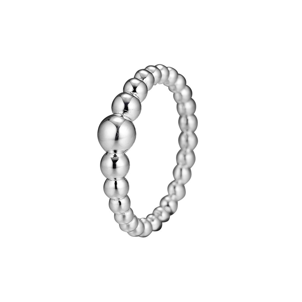 Us $8.15 49% Off|Ckk String Of Beads Ring For Women Diy Charms Jewelry  Engagement Wedding Rings 925 Sterling Silver Jewelry Party Birthday Gift In Pertaining To Recent Strings Of Beads Rings (Gallery 2 of 25)