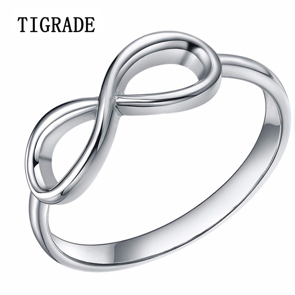 Us $8.17 35% Off|925 Sterling Silver Rings Women Cross Infinity Wedding  Band Engagement Ring Simple Statement Jewelry Anillos Plata Mujer 925 In  Rings Within Best And Newest Simple Infinity Band Rings (Gallery 14 of 25)