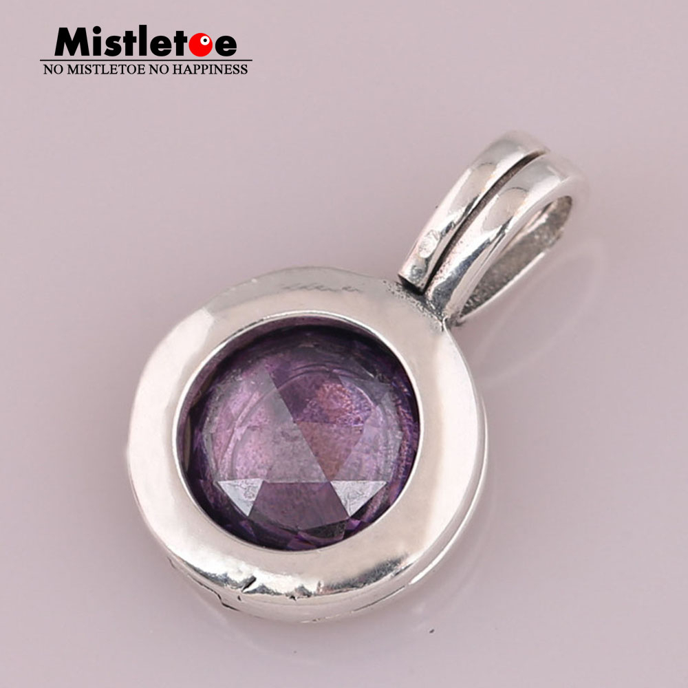 Us $8.8 19% Off|Aliexpress : Buy Mistletoe 925 Sterling Silver  Mistletoe Faceted Locket Dangle Charm, Synthetic Purple Crystal Fit  European Intended For 2019 Faceted Locket Dangle Charm, Synthetic Amethyst Necklaces (Gallery 11 of 25)