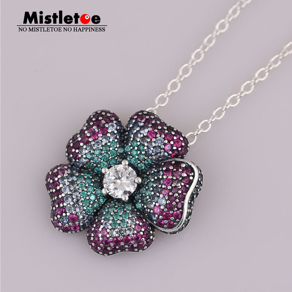 Us $9.23 |Mistletoe Authentic 925 Sterling Silver Glorious Bloom Pendant,  Multi Colored Cz Fit European Bracelets & Necklace Jewelry In Pendants From Throughout 2020 Glorious Bloom Pendant Necklaces (Gallery 3 of 25)