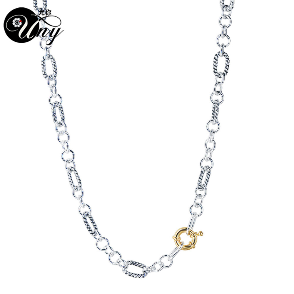 Us $9.68 49% Off|Uny Necklaces Designer Fashion Inspired Classic Necklace  Woman Elegant Vintage Necklaces Cable Wire Trendy Jewelry Gift Necklace In With Regard To Most Recent Classic Cable Chain Necklaces (Gallery 9 of 25)