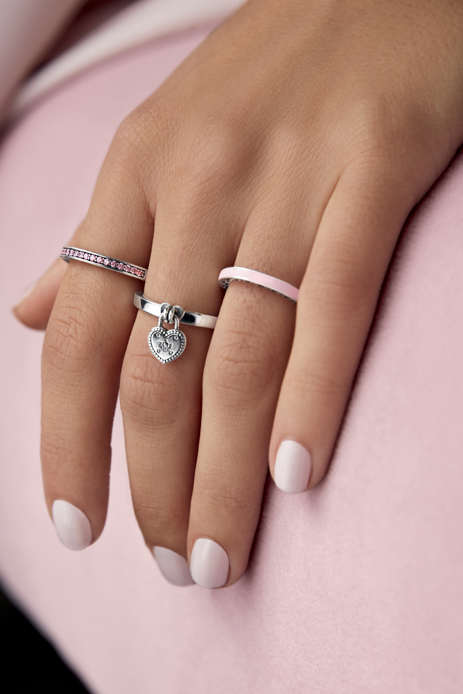 Valentine's Day Jewellery In 2019 | Pandora Rings | Pandora Rings Inside Most Recently Released Heart Shaped Padlock Rings (View 4 of 25)