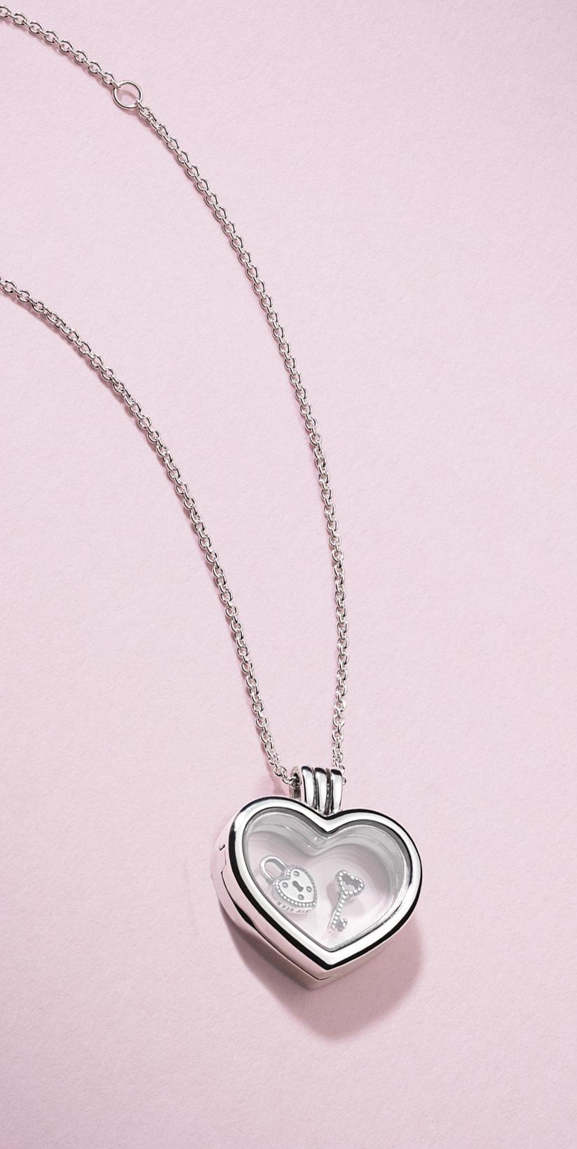 Valentine's Day Jewellery | Pandora Lockets | Pandora Necklace Pertaining To Most Recent Pandora Lockets Logo Dangle Charm Necklaces (View 3 of 25)