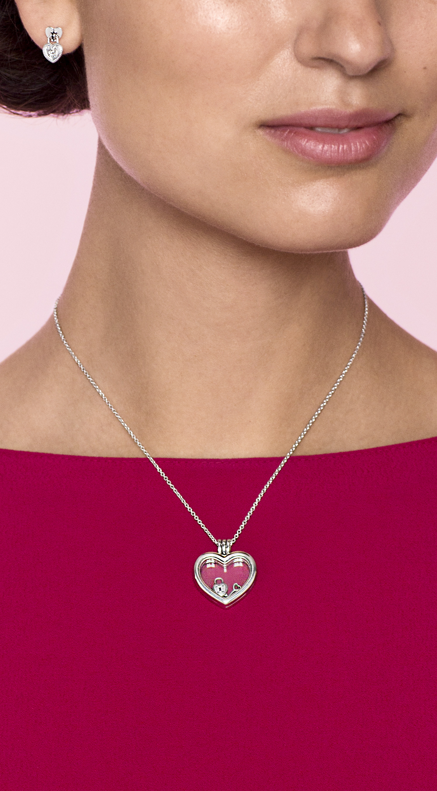 Valentine's Day Jewellery | Pandora Valentine's Day In 2019 Throughout 2019 Pandora Lockets Logo Dangle Charm Necklaces (View 24 of 25)