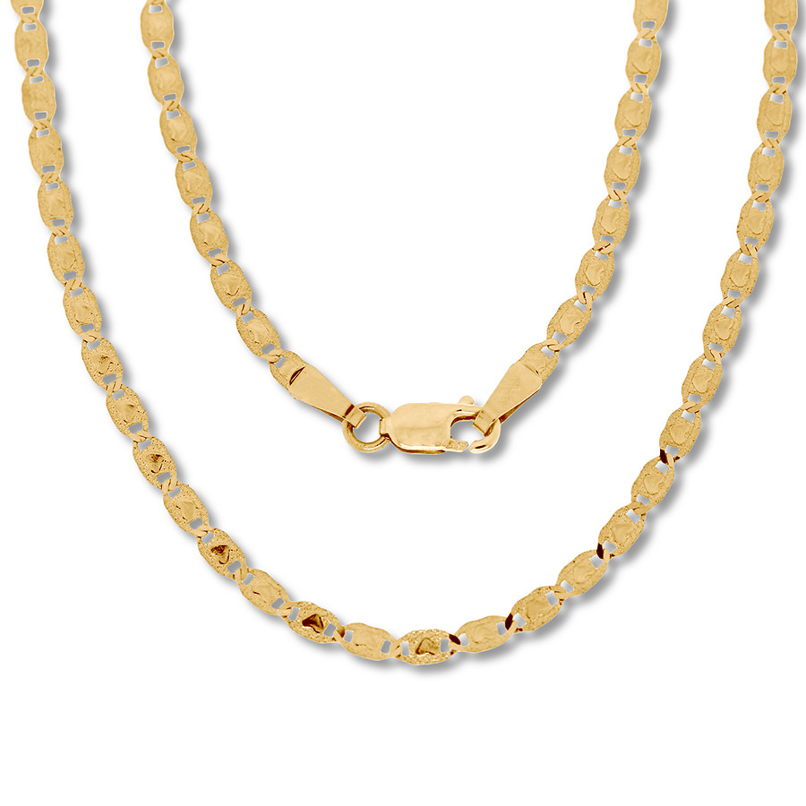 "Valentino Heart Chain Necklace 14k Yellow Gold 20"" Length Pertaining To Newest Joined Hearts Chain Necklaces (View 4 of 25)"