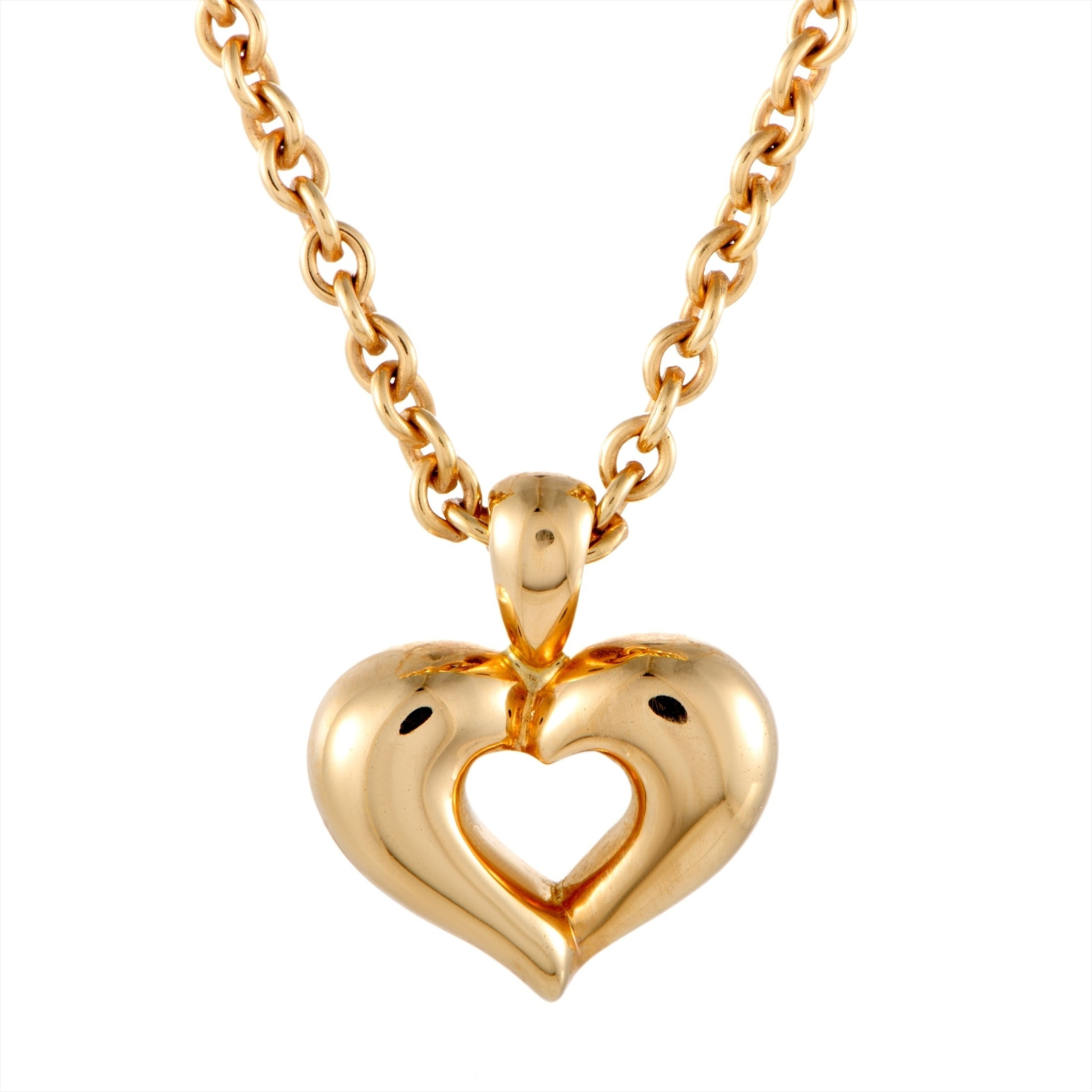 Van Cleef & Arpels Yellow Gold Heart Pendant Choker Necklace Regarding Best And Newest Knotted Hearts T Bar Necklaces (Gallery 23 of 25)