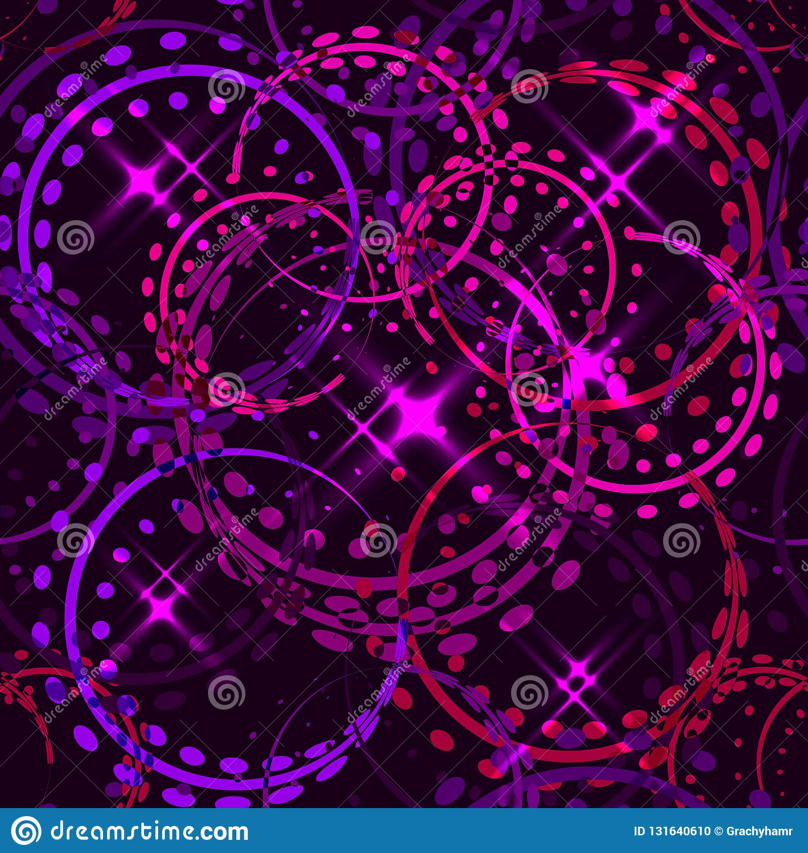 Vector Metallic Stars And Rings In Ultraviolet Shades On A Sparkling Inside Most Popular Sparkling Pattern Rings (View 6 of 25)