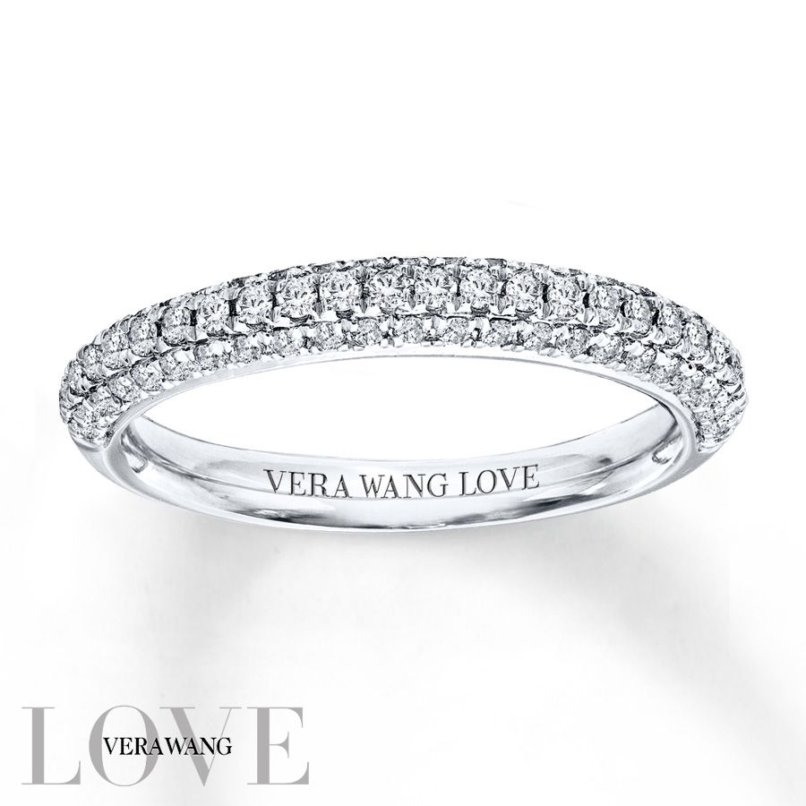Vera Wang Love 1/2 Carat Tw Diamonds 14k White Gold Band Regarding Recent Vera Wang Love Collection Diamond Two Row Anniversary Bands In White Gold (View 7 of 25)