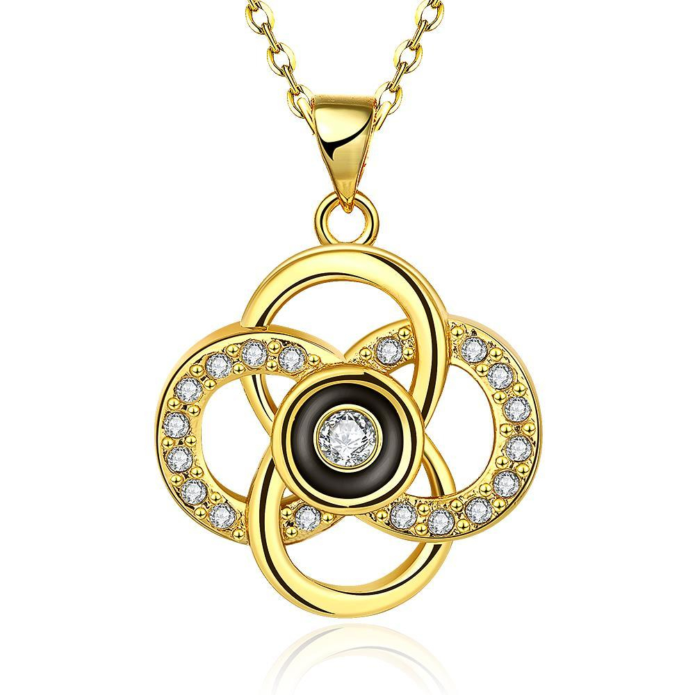 Vienna Jewelry Gold Plated Spiral Intertwined Pendant Necklace Throughout 2019 Interlocked Hearts Locket Element Necklaces (View 25 of 25)