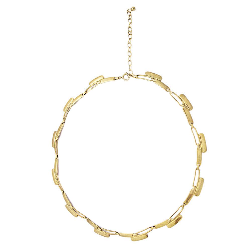 Vintage 333er Modernist Gelb Gold Damen Halskette Collier Necklace 8 With Latest Vintage Circle Collier Necklaces (View 15 of 25)