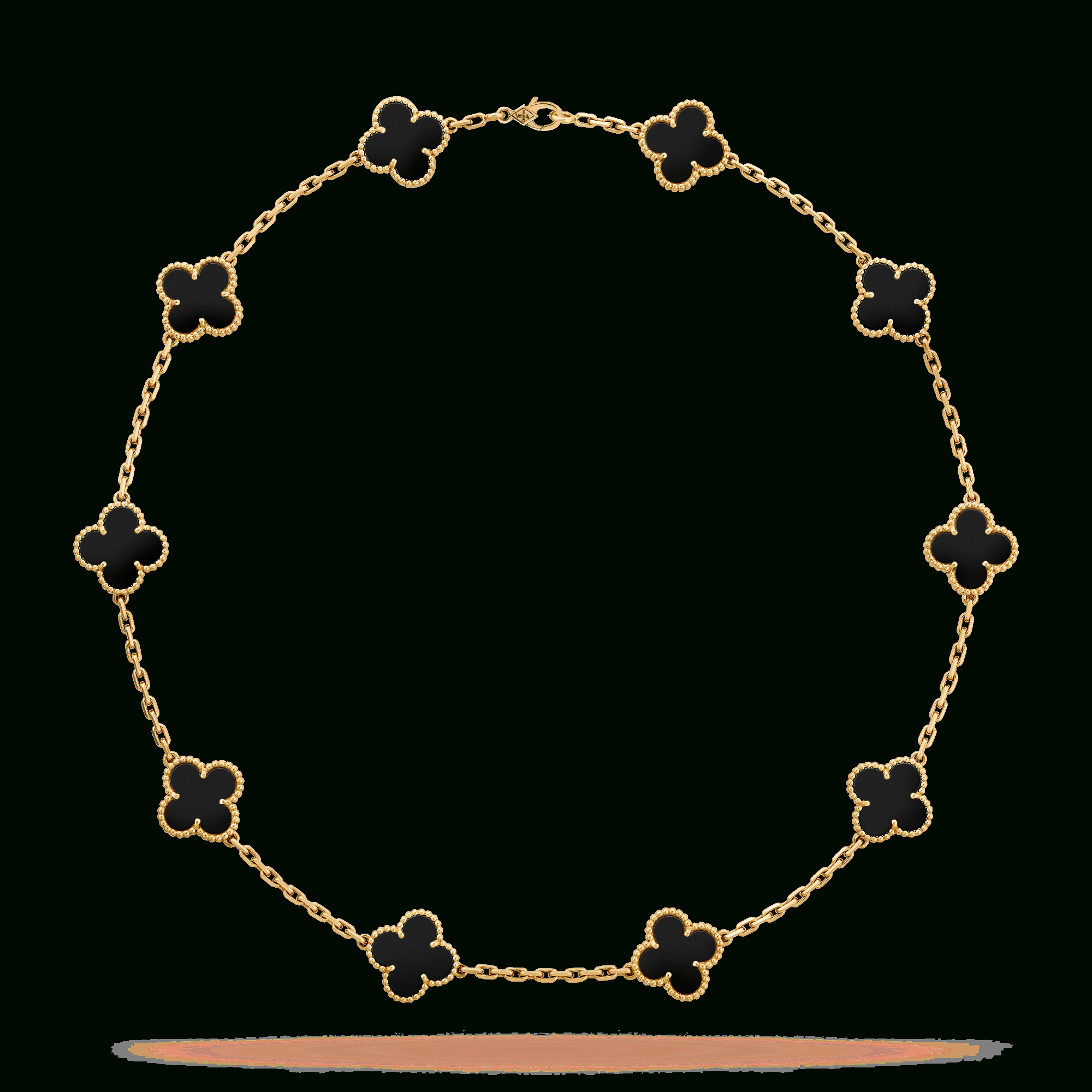 Vintage Alhambra Necklace, 10 Motifs – Vcara42700 Van Cleef & Arpels Intended For Recent Vintage Circle Collier Necklaces (View 13 of 25)