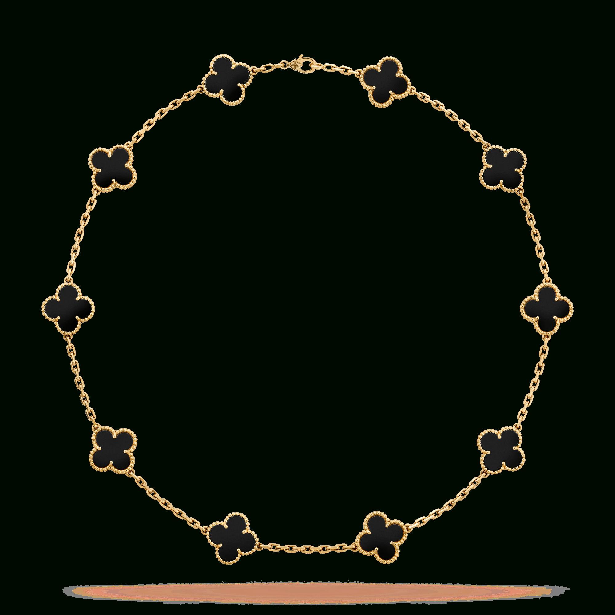 Vintage Alhambra Necklace, 10 Motifs – Vcara42700  Van Cleef & Arpels Intended For Recent Vintage Circle Collier Necklaces (Gallery 13 of 25)