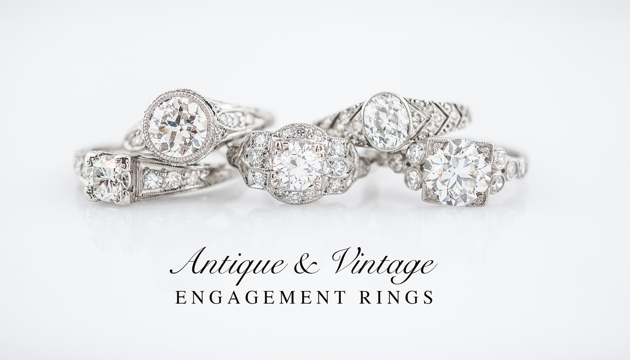 Vintage & Antique Engagement Rings – Filigree Jewelers Pertaining To Best And Newest Diamond Vintage Style Seven Stone Anniversary Bands In White Gold (View 21 of 25)