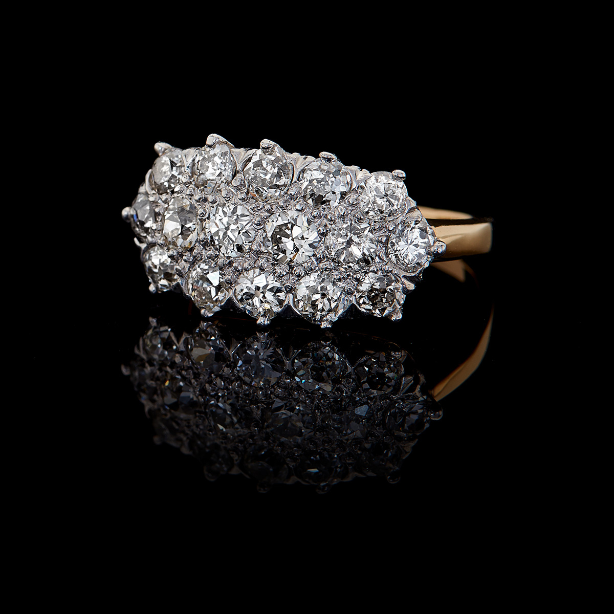 Vintage, Antique & Estate Rings | Calhoun Jewelers Intended For Best And Newest Diamond Vintage Style Three Row Anniversary Bands In White Gold (View 13 of 25)
