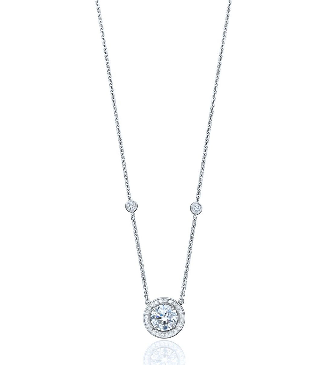 Vintage Classic Round Diamond Pendant – Boodles | Cocktail Rings For 2020 Round Sparkle Halo Necklaces (View 24 of 25)