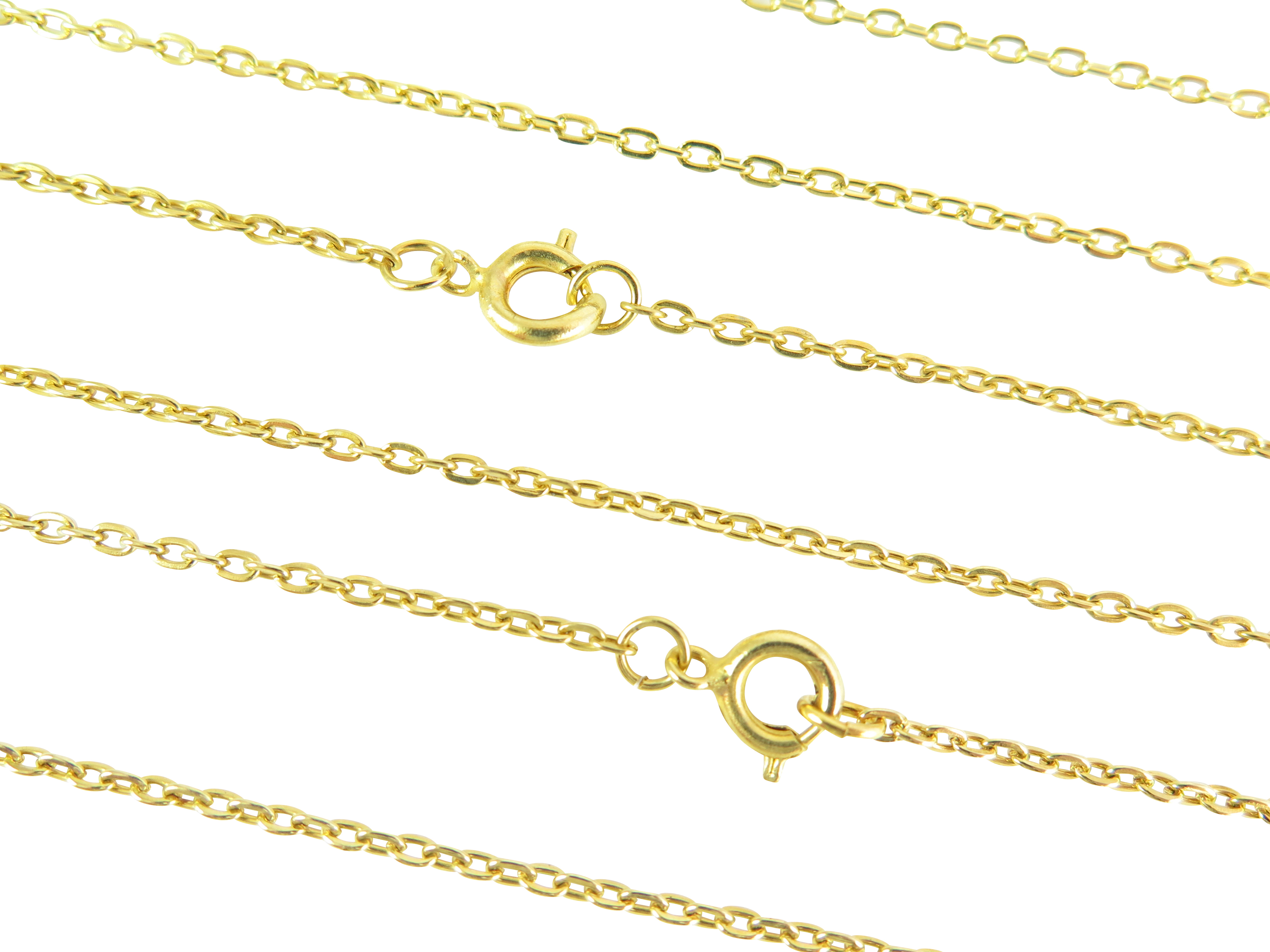 Vintage Gold Plated Cable Chain Necklace – 24 Inches Regarding 2020 Cable Chain Necklaces (View 18 of 25)