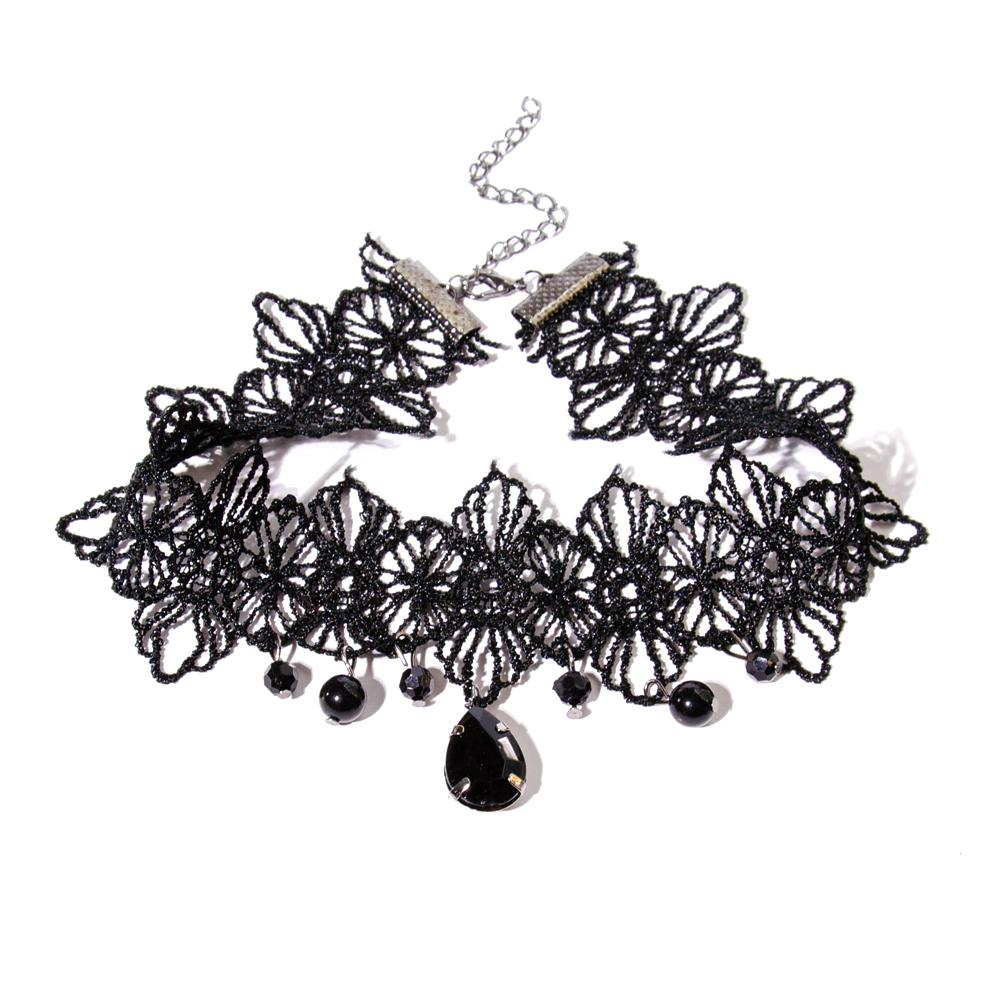Vintage Gothic Sexy Lace Necklaces Tassel Necklaces Pendants For Women  Charm Jewelry Collier Regarding Current Vintage Circle Collier Necklaces (Gallery 25 of 25)