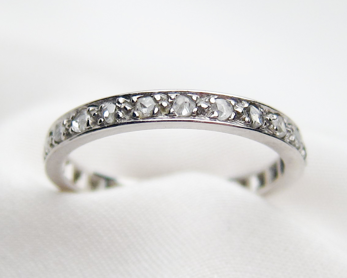 Vintage Platinum Wedding Bands | Isadoras Antique Jewelry Within Recent Diamond Linear Anniversary Bands In White Gold (View 25 of 25)