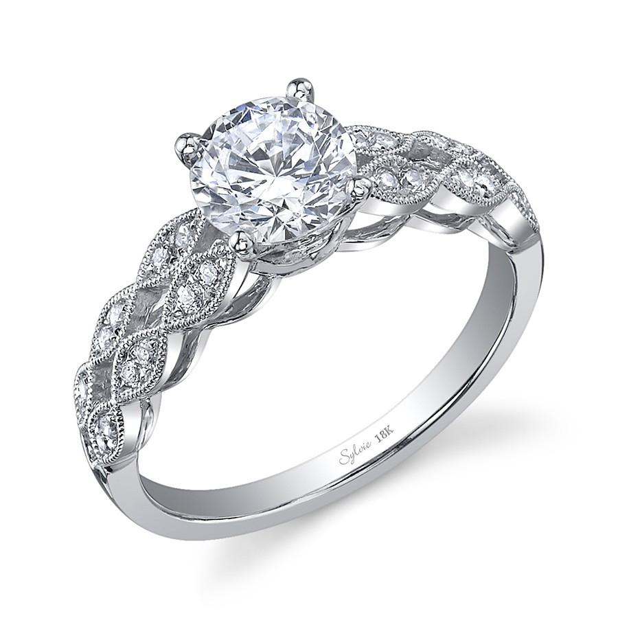 Vintage Round Brilliant Diamond Engagement Ring – Engagement Rings Inside 2017 Vintage Circle Rings (View 20 of 25)