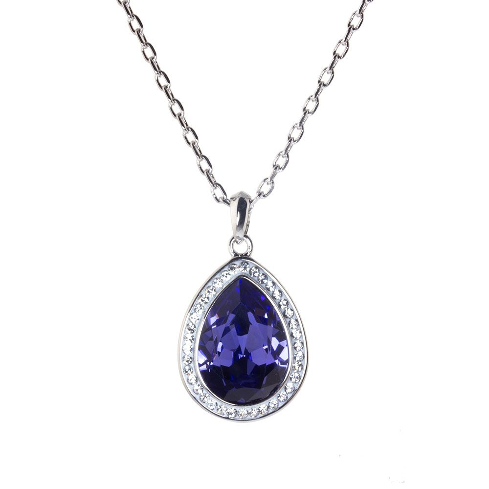 Violetta Necklace Made With Swarovski Elements, Just £19! – Warren With Regard To Most Up To Date Purple Ladybird Locket Element Necklaces (View 2 of 25)