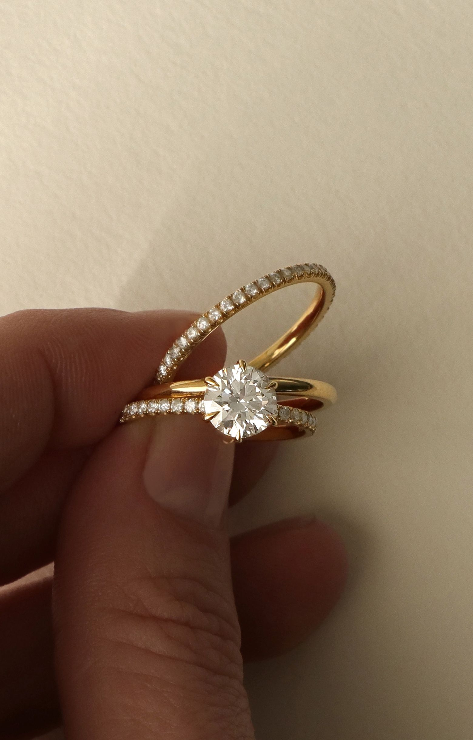 Vow: Vrai & Oro Wedding Solitaire Engagement Ring. Modern With Most Current Champagne And White Diamond Quilted Anniversary Rings In White Gold (Gallery 20 of 25)