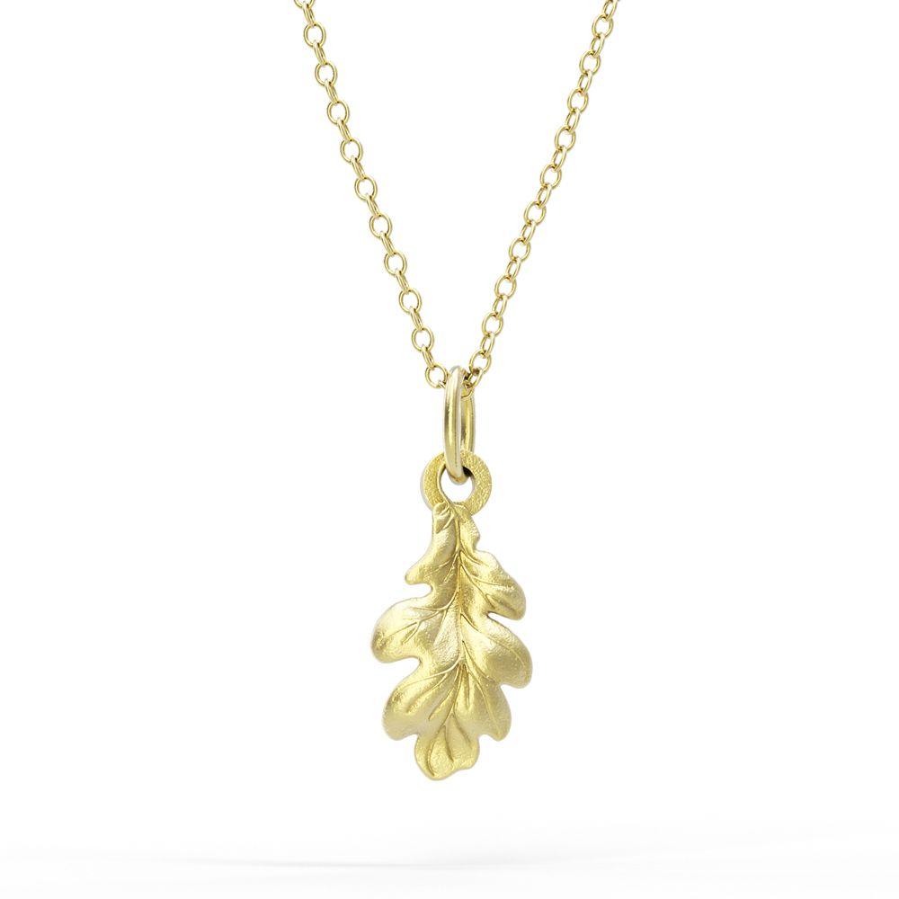 Watership Down – Gold Vermeil Oak Leaf Necklace Set Regarding Recent Oak Leaf Necklaces (Gallery 14 of 25)