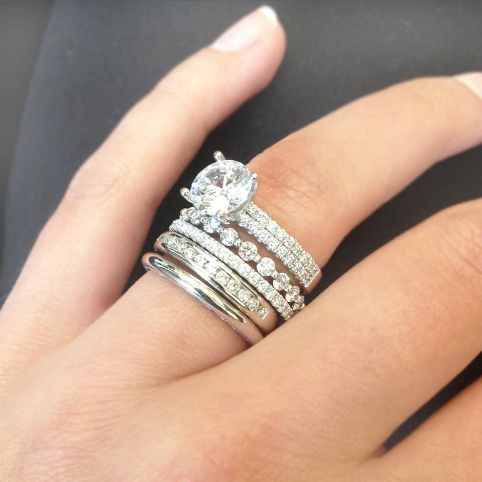 We All Know Diamonds Are A Girls Best Friend So Why Not Throughout Most Recently Released Champagne And White Diamond Quilted Anniversary Rings In White Gold (View 5 of 25)