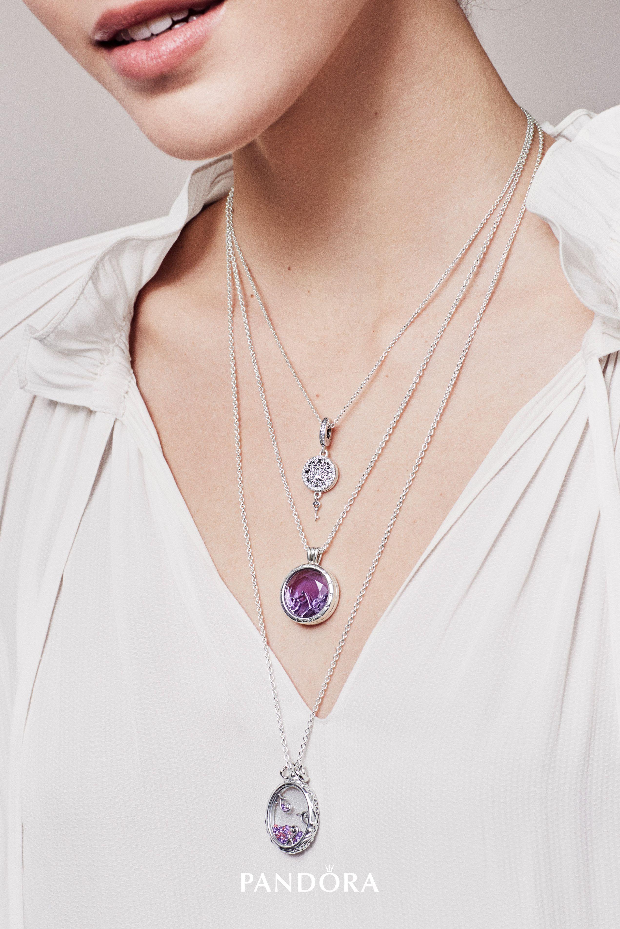Featured Photo of Pandora Lockets Logo Dangle Charm Necklaces