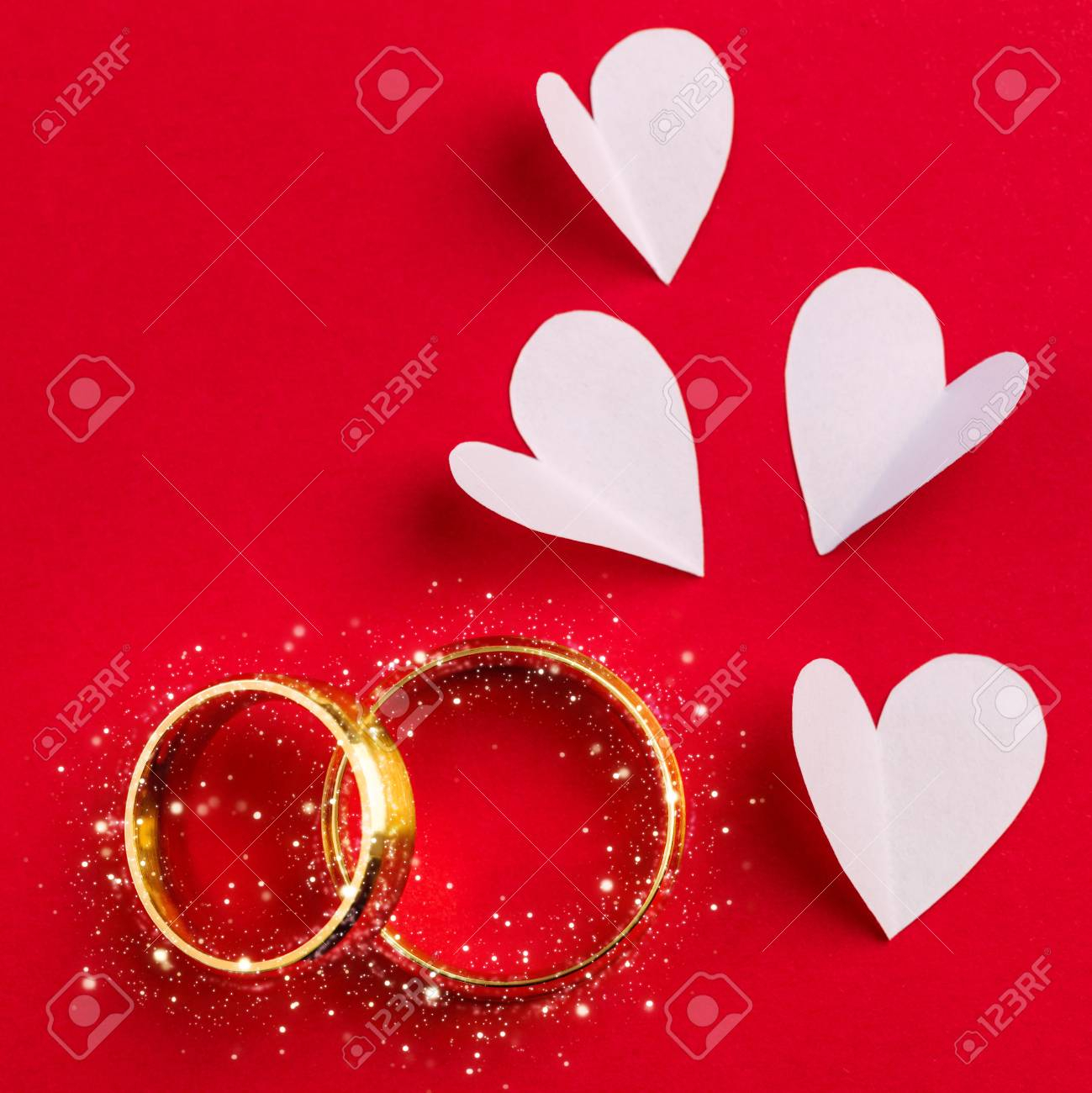 Wedding Background – Two Gold Wedding Rings With Sparkle And. (View 24 of 25)