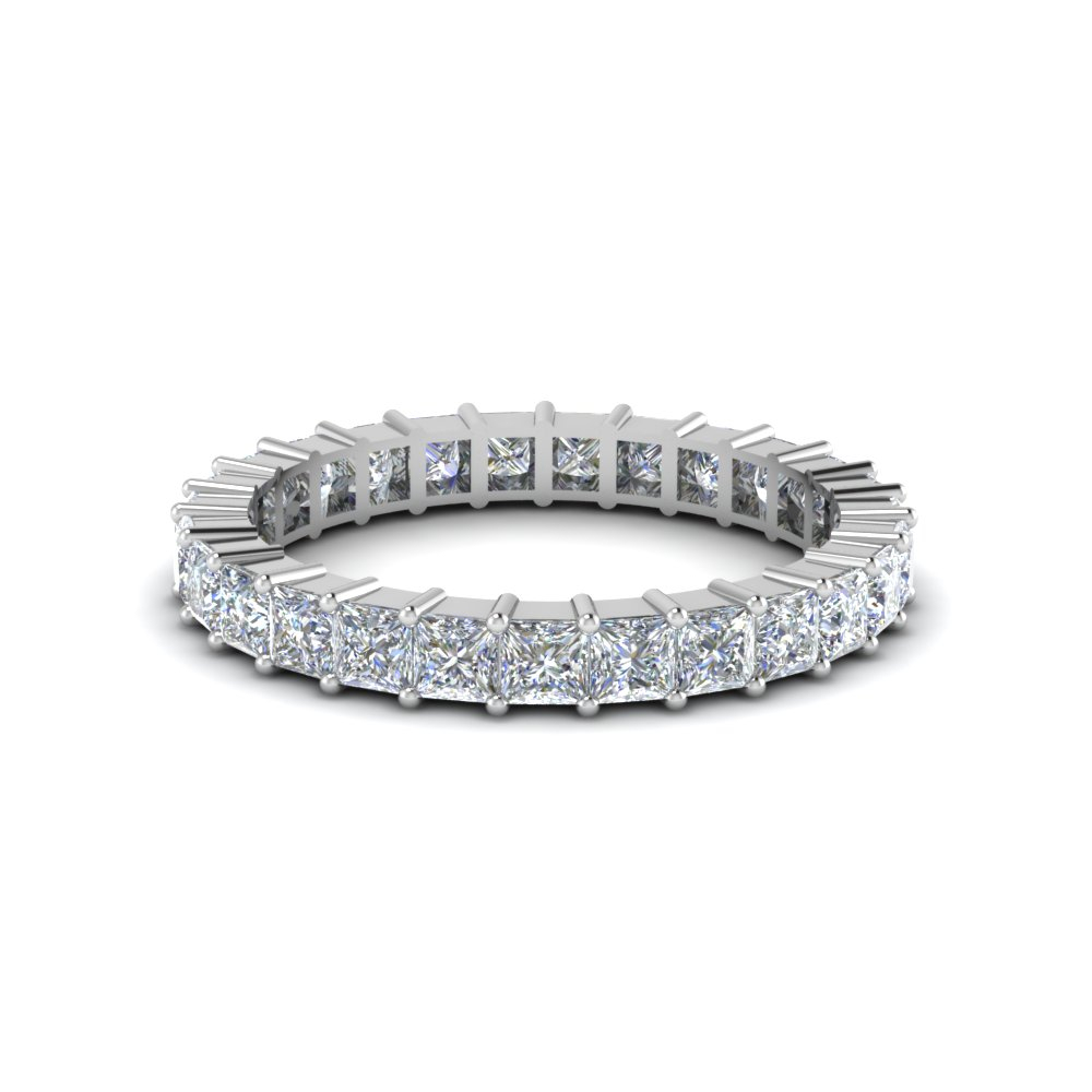 Wedding – Diamond Eternity Rings And Bands | Fascinating Throughout Newest Princess Cut And Round Diamond Three Row Anniversary Bands In White Gold (View 11 of 25)