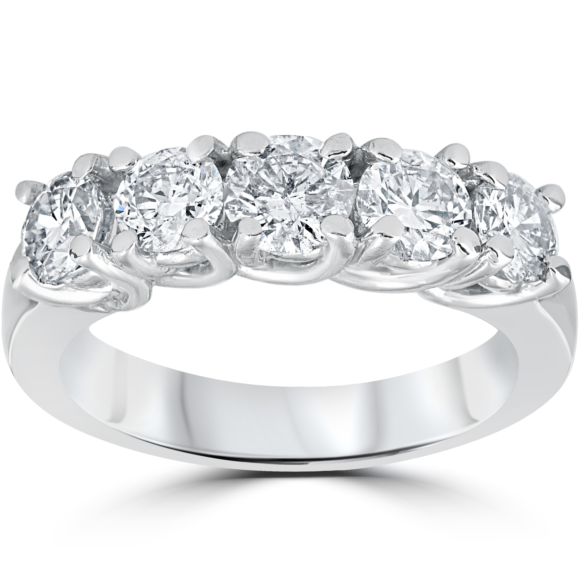 Wedding Ring : Women Rings With Diamonds Pics Wide Diamond In Current Diamond Bold Five Stone Anniversary Bands In White Gold (View 12 of 25)