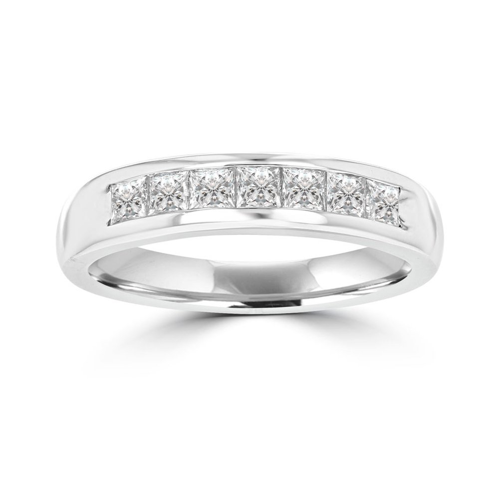 Wedding Rings For Men And Women – Wedding Bands, Rings With Regard To 2020 Diamond Accent Channel Anniversary Bands In White Gold (View 24 of 25)