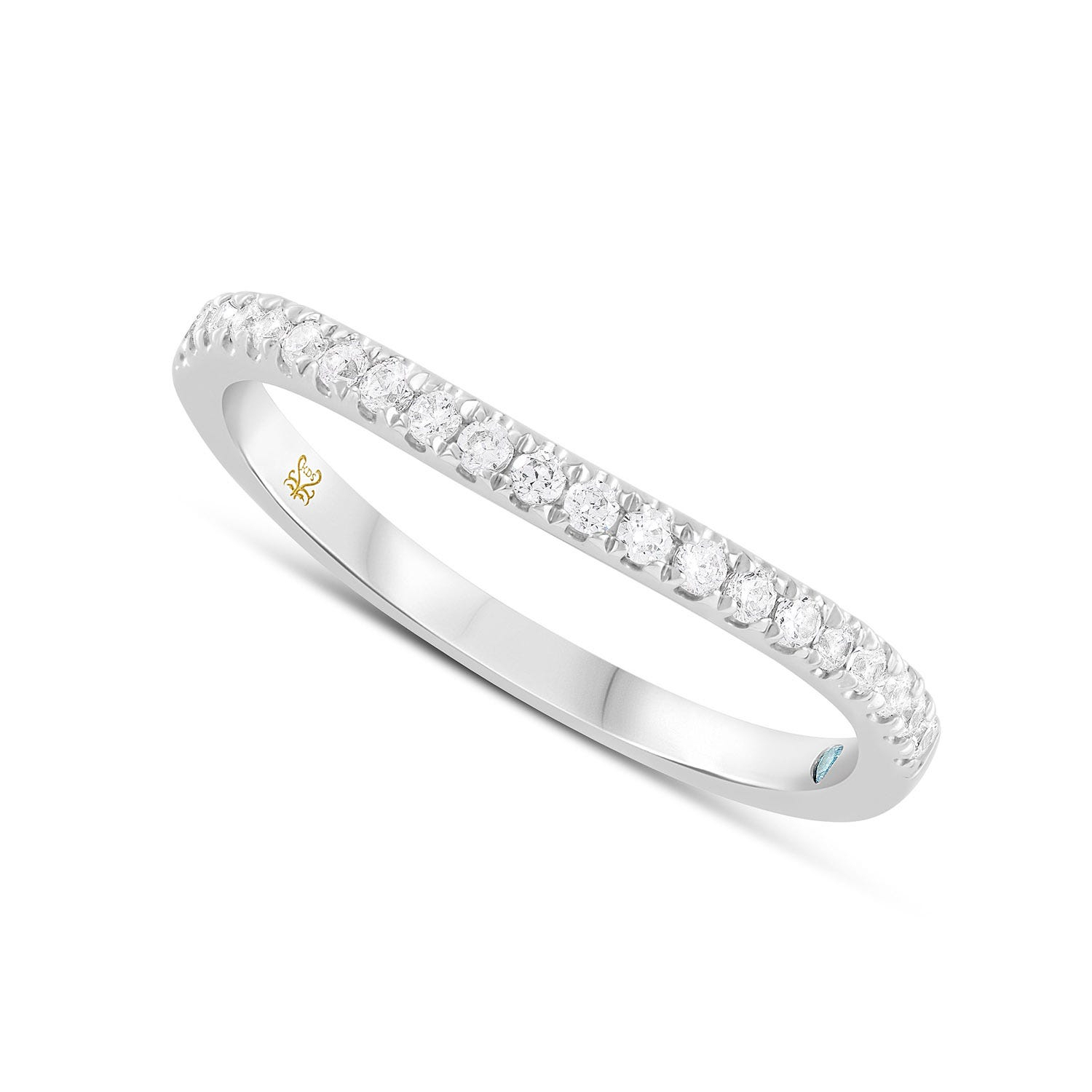 Wedding Rings For Women Regarding Most Recently Released Diamond Three Row Tiered Anniversary Bands In White Gold (View 11 of 25)