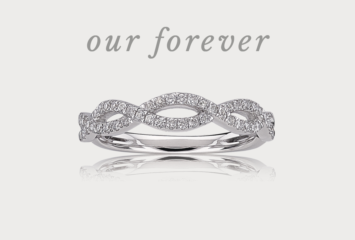 Wedding Rings, Sets & Bands For Men And Women Pertaining To Most Up To Date Princess Cut Diamond Criss Cross Anniversary Bands In White Gold (View 24 of 25)