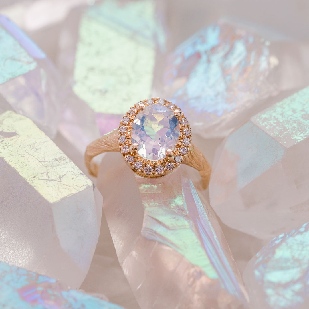 Weekly Sparkle: Moonstone Queen Of Hearts Ring – Chupi Blog – Chupi Regarding 2017 Sparkle & Hearts Rings (View 17 of 25)