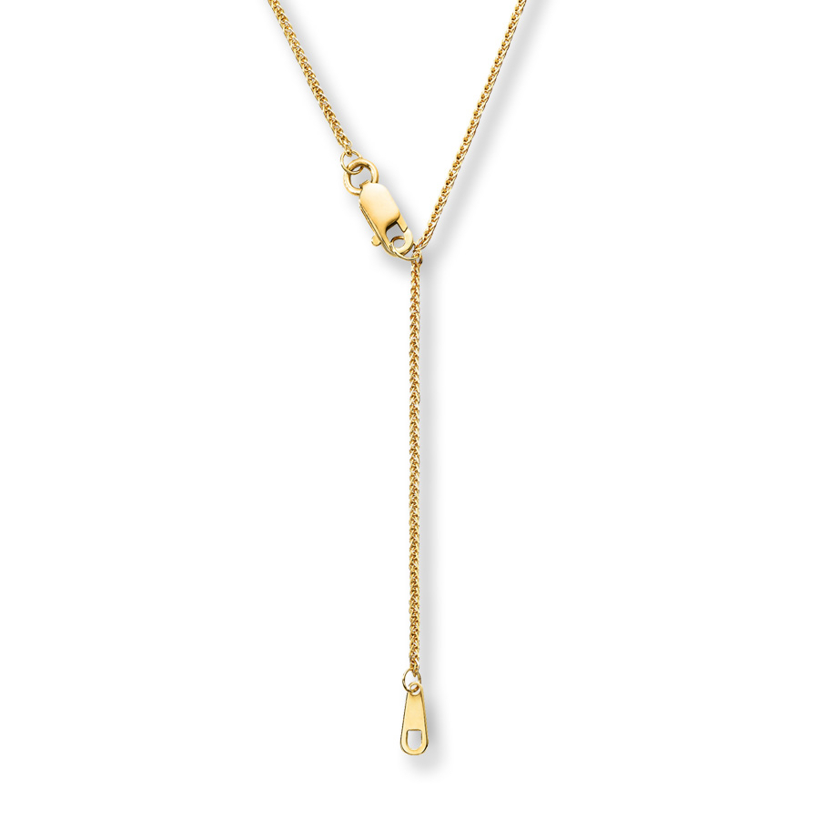 Wheat Chain Necklace 14k Yellow Gold Throughout 2020 Wheat Pendant Necklaces (View 2 of 25)