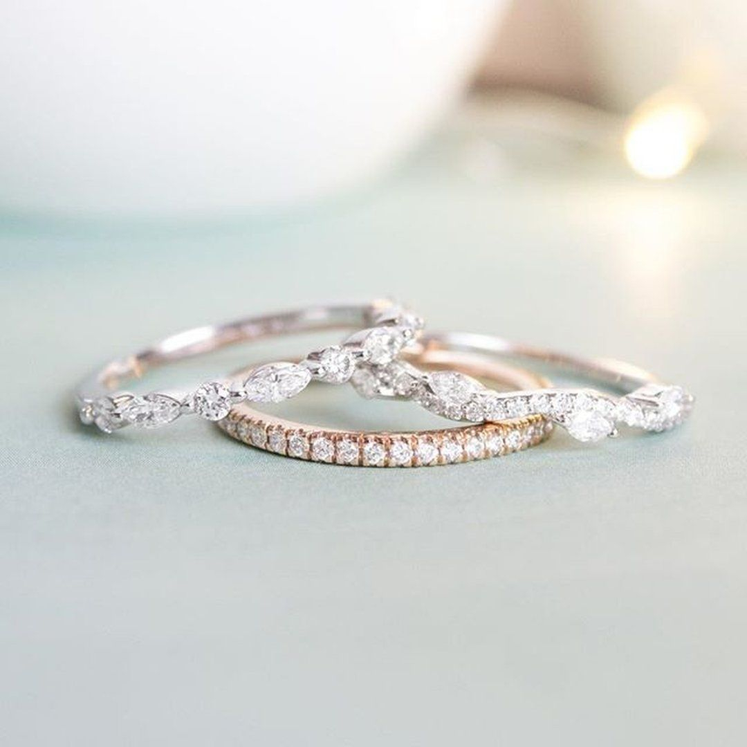 Whisper Eternity Classic Diamond Wedding Ring – Platinum Regarding Most Recently Released Marquise And Round Diamond Alternating Anniversary Bands In Rose Gold (View 23 of 25)