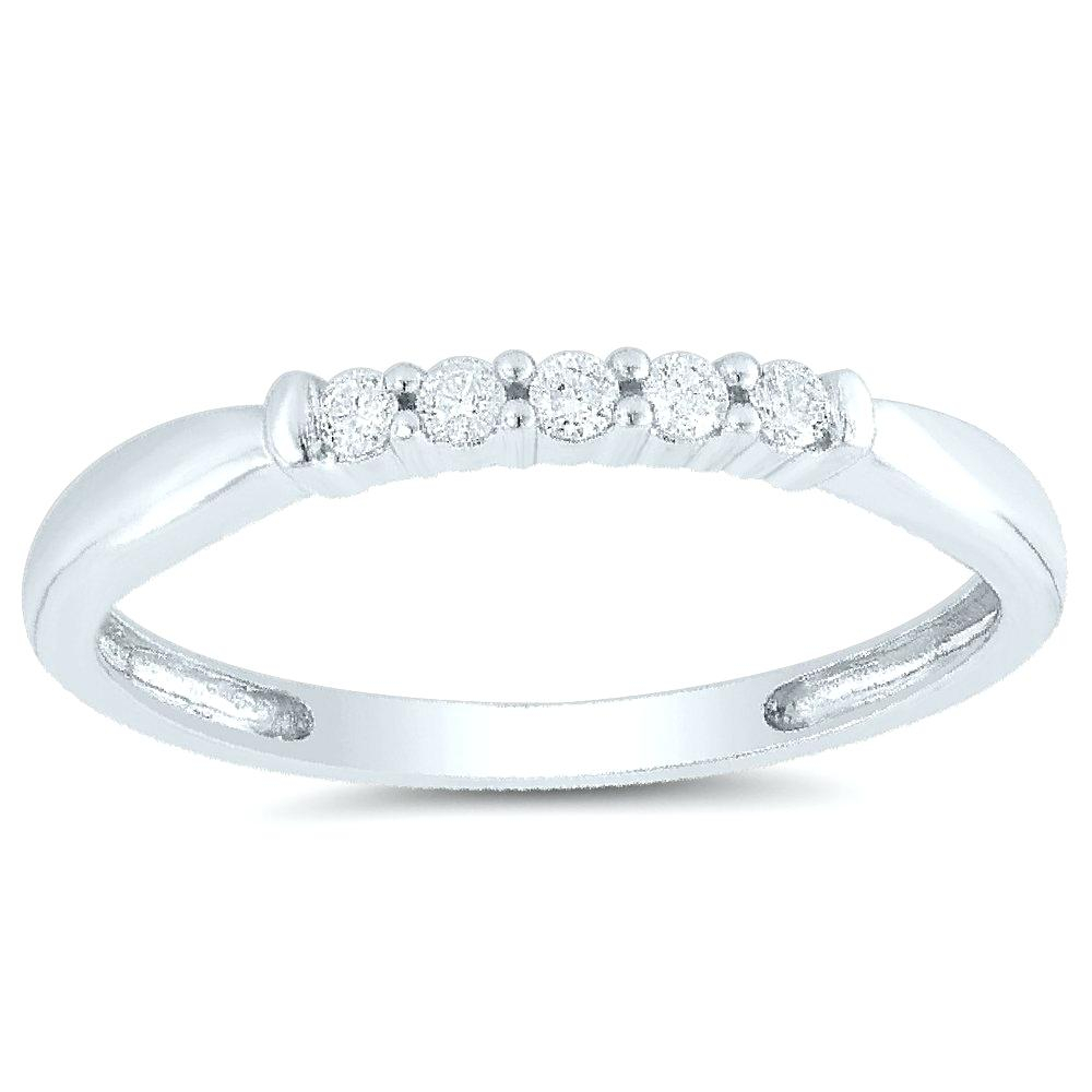 White Gold Anniversary Band – Soccr With Newest Diamond Five Stone Swirl Anniversary Bands In White Gold (View 13 of 25)