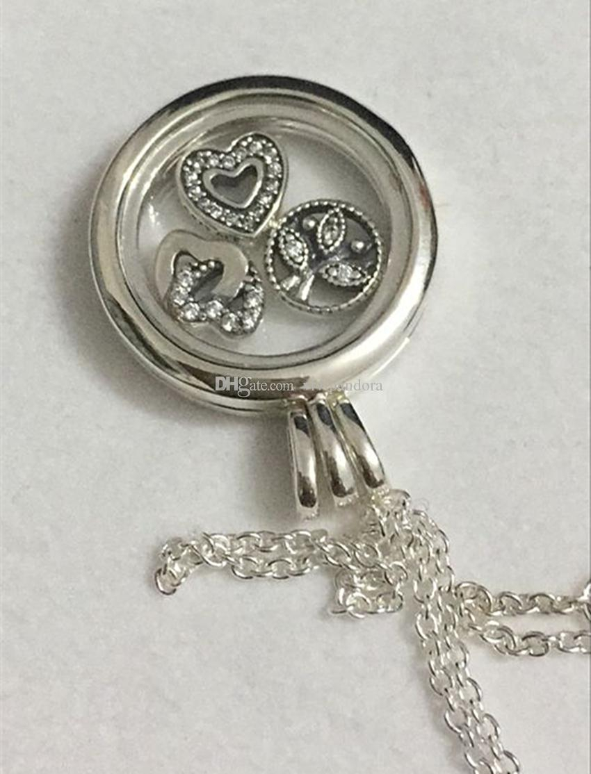 Wholesale 925 Sterling Silver Medium Floating Locket With Love & Family Petites Pendant Necklace Fit European Pandora Style Charm Jewelry And Bead Throughout 2019 Love & Family Petite Locket Charms Necklaces (View 14 of 25)