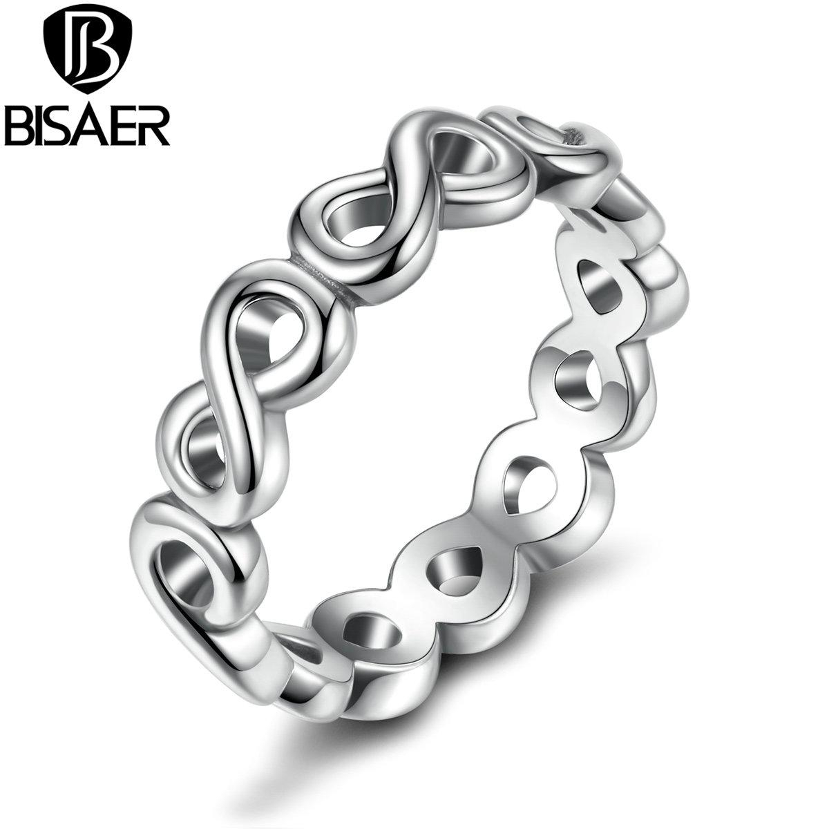 Wholesale Bisaer Classic Bow Knot Friendship Infinity Finger Rings Silver Color Ring For Women Fashion Wedding Jewelry Weu7213 With 2018 Classic Bow Rings (View 2 of 25)