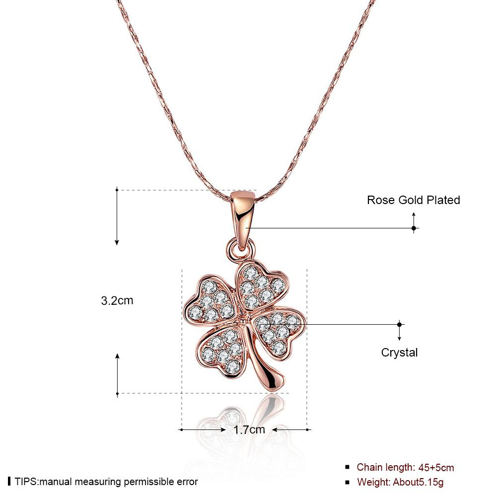 Wholesale Heart Necklace Lucky Four Leaf Clover Pendants Necklaces For Most Recent Lucky Four Leaf Clover Pendant Necklaces (View 11 of 25)