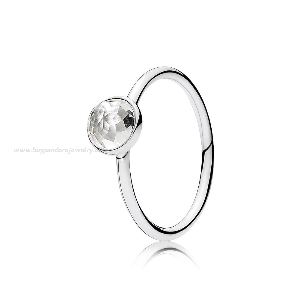 Wholesale Pandora Birthstone Rings Net: Bracelet, Charms, Necklace For Most Popular Rock Crystal April Droplet Pendant Necklaces (Gallery 7 of 25)