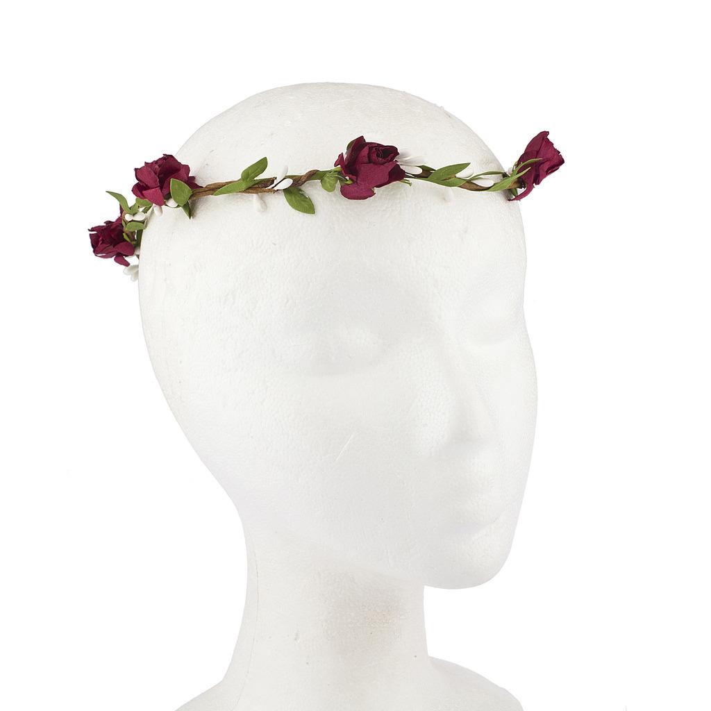 Wine Festival Hair Garland Leaves Flower Crown Flower Headband Intended For Recent Flower Crown Rings (View 16 of 25)