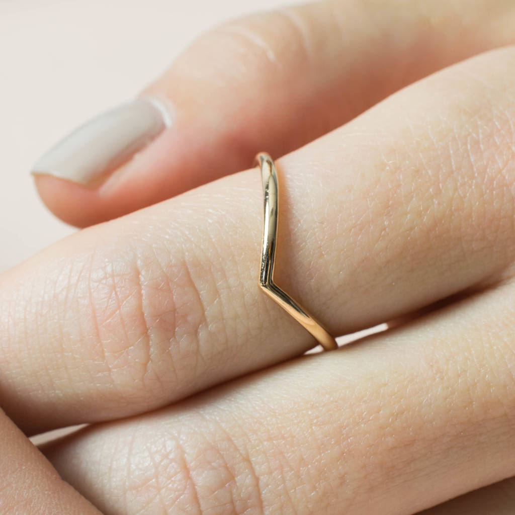 Wishbone 18ct Gold Vermeil Ring In Most Up To Date Polished Wishbone Rings (View 4 of 25)