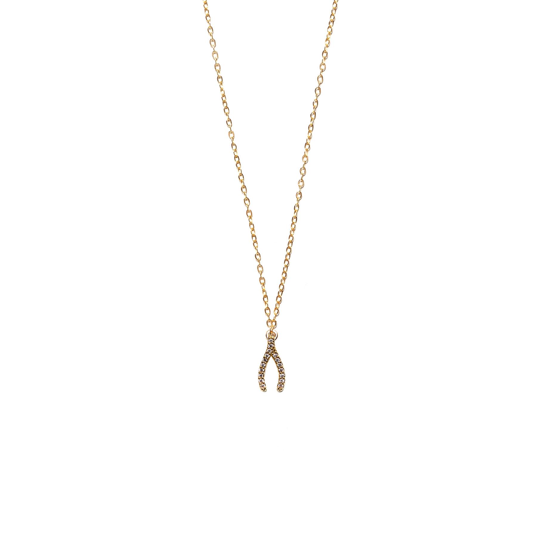 Wishbone Necklace, Pave, Gold Filled With Most Popular Sparkling Wishbone Necklaces (View 16 of 25)
